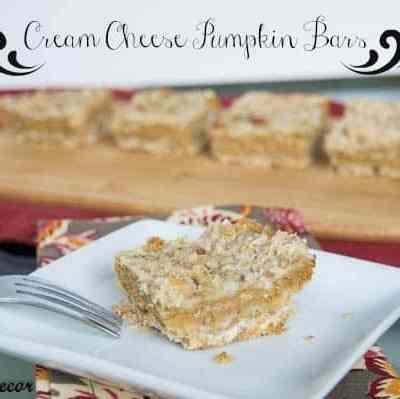 Cream Cheese Pumpkin Bars!