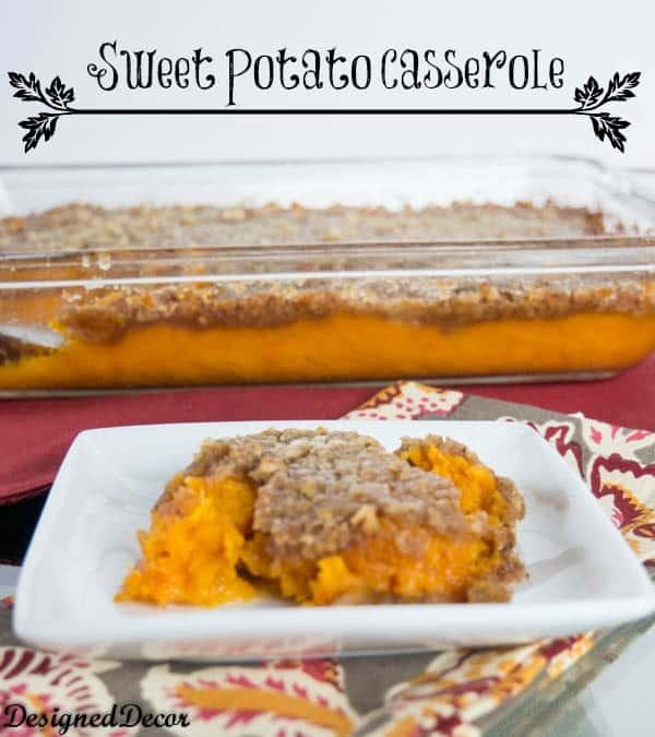 Sweet Potato Casserole-www.designeddecor.com