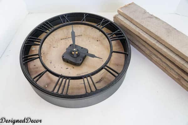 repurposing a pallet into a clock
