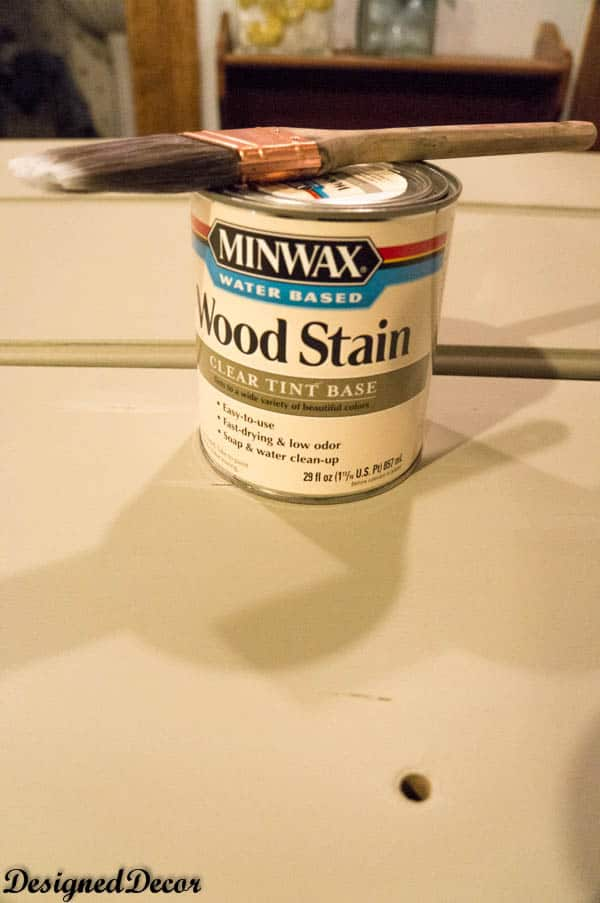 minwax water base stain in coffee