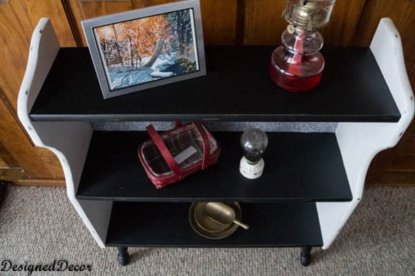 Americana Chalky Finish Shelf Makeover