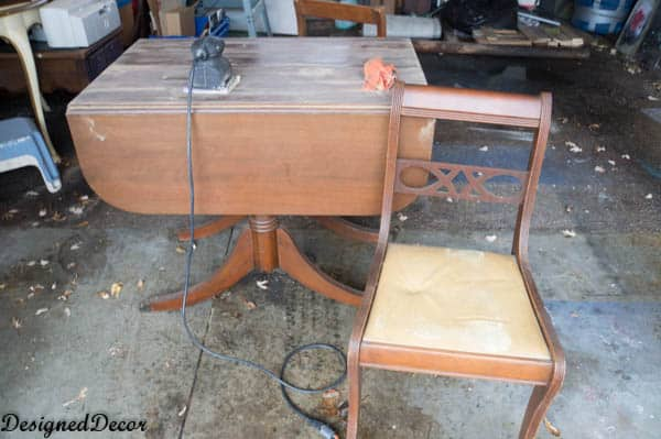 Before picture of Drop Leaf Table and Chairs