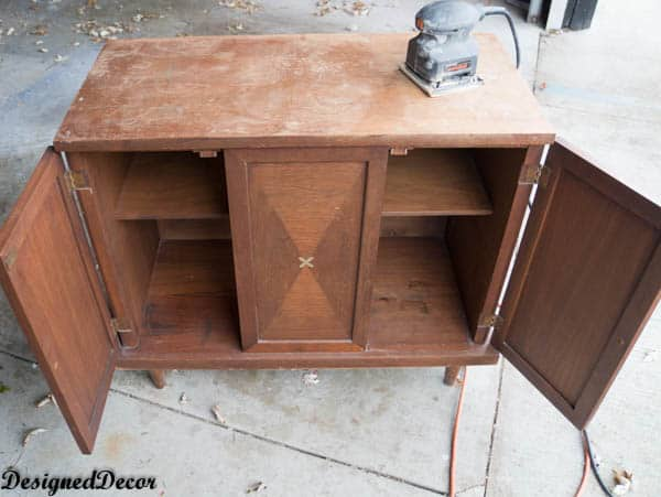 Small Credenza Makeover- before