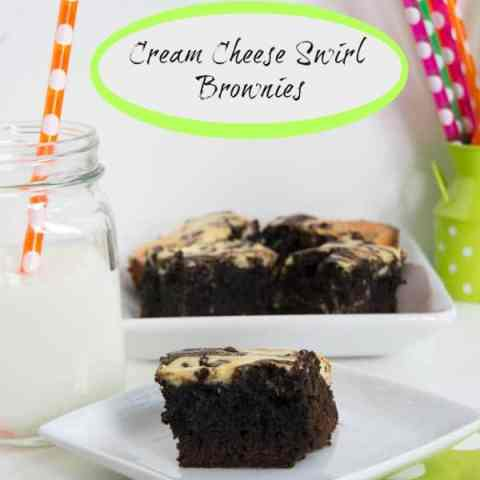 Cream Cheese Swirl Brownies!