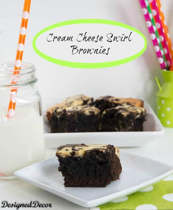 cream cheese swirl brownies-