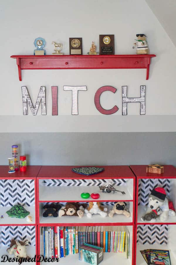 DIY wood wall letters