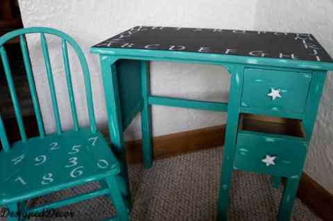 ABC 123 Kids Desk and Chair- makeover