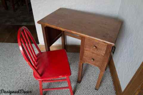 ABC 123 Kids Desk and Chair ~ Before
