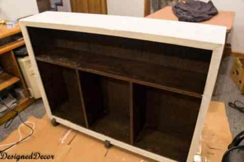 Antique Floor Shelf- Country Chic vanilla frosting