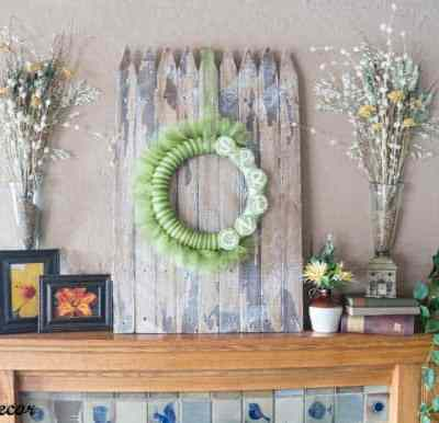 Using an Old Picket Fence for Spring Decorating!