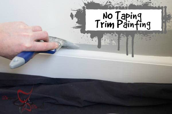 Painting the walls and trim-pinnable