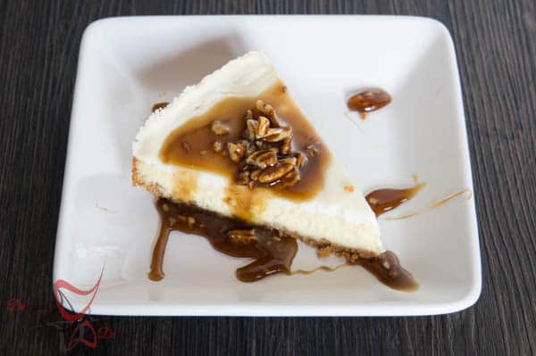 Nana's Cheesecake with Praline Topping-