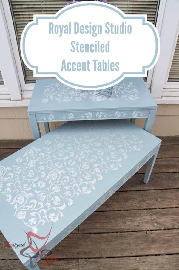 Royal Design Studio Stenciled Accent Tables