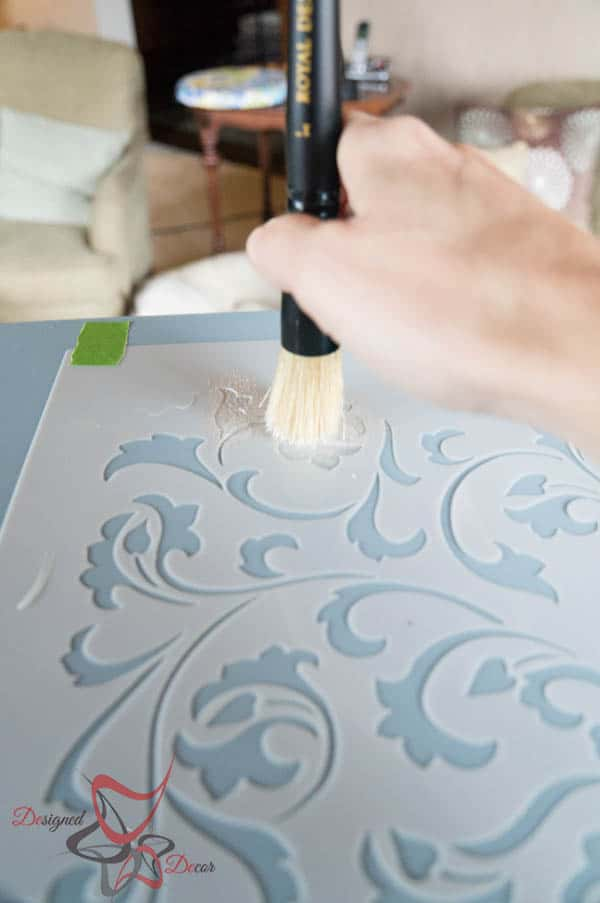dab method- stenciling