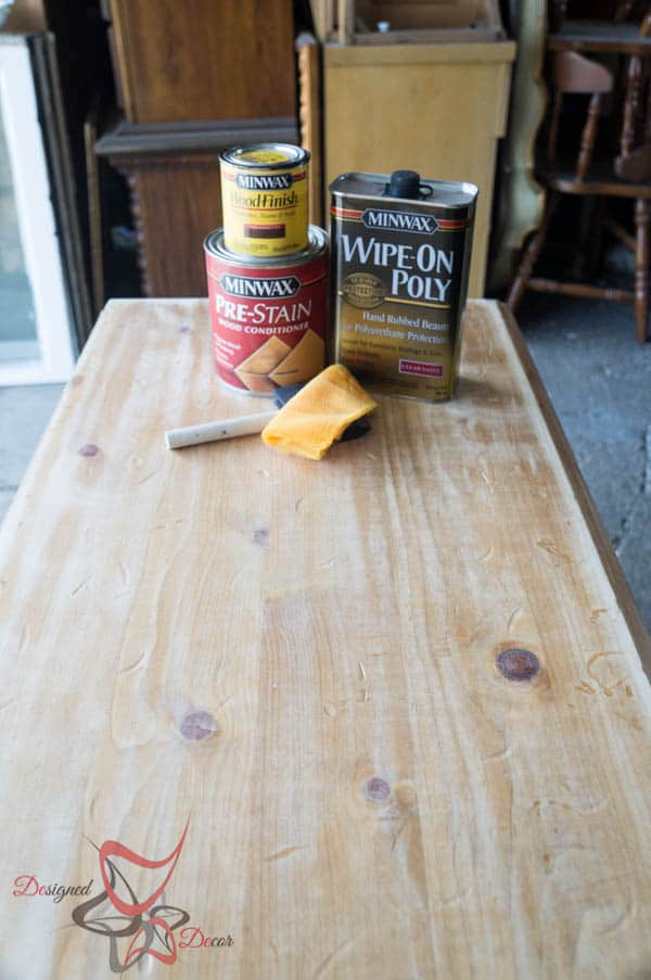 How to stain using Minwax products