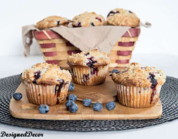 Crumb Topping  Blueberry Muffins-