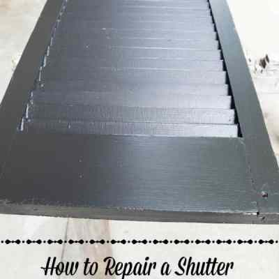 Repair an Old Shutter with a Paint Stick!