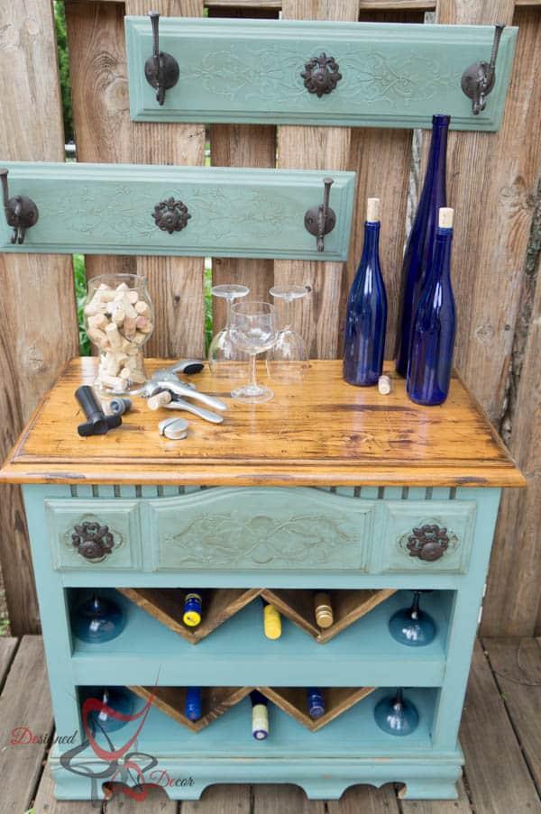 Repurposed Dresser ~ Wine Bar-11