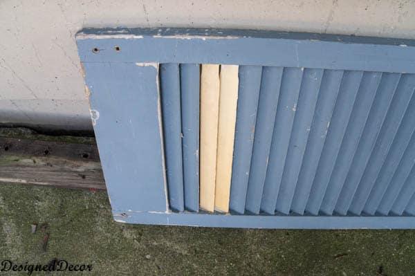 repairing a shutter with paint sticks-6