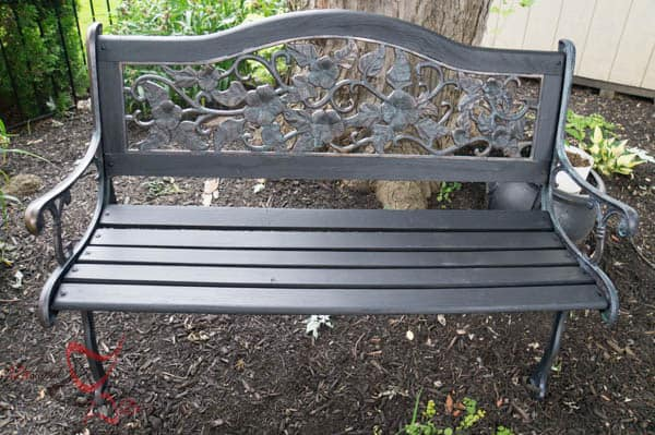 Bench Make over ~ Metal Effects~ Modern Masters~Thompson's WaterSeal