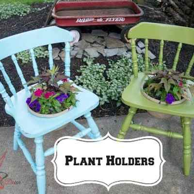 DIY Plant Holders using Wood Chairs!