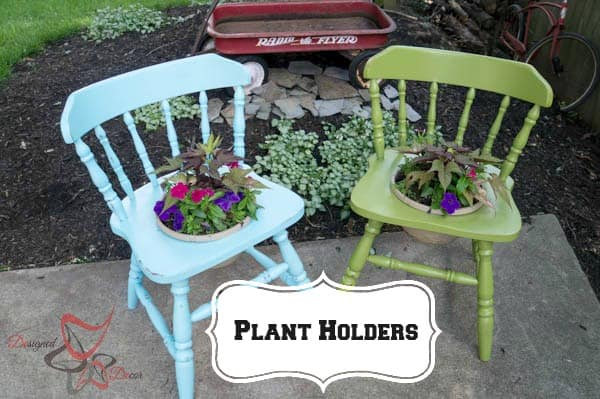 Chair Plant Holders-Re-purposed Wood Chairs