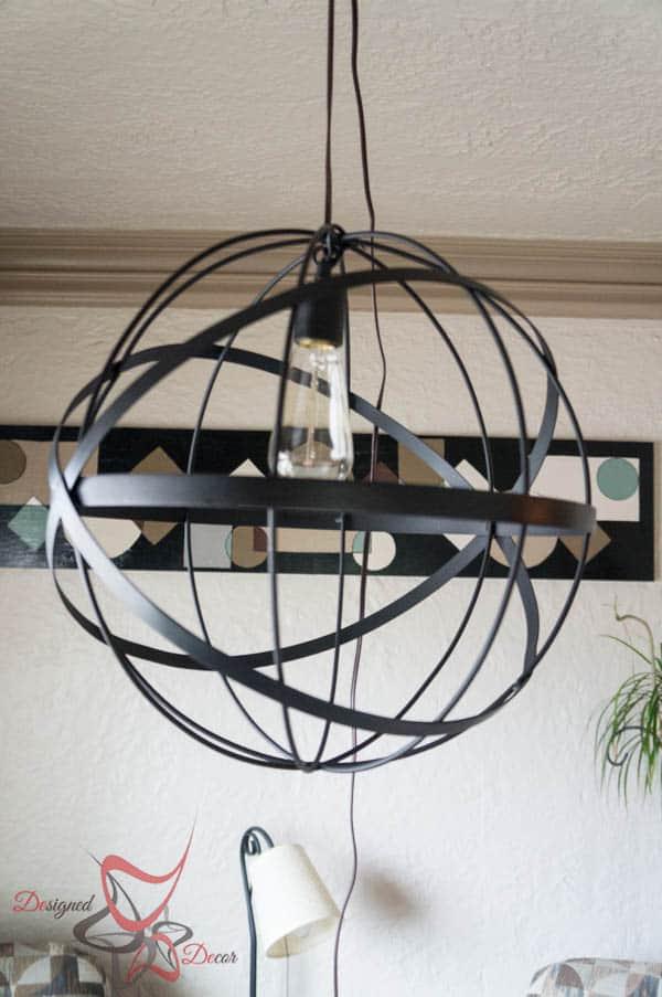 DIY Sphere Pendant Lighting
