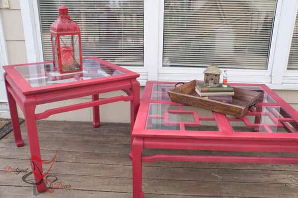 Dumpster Diving Glass Top Tables-