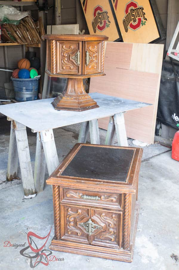Ornate Side Tables - before