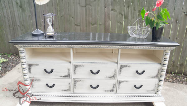 Dresser repurposed into a Media Center