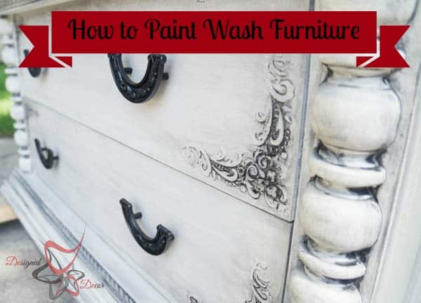 How to Paint Wash Furniture!