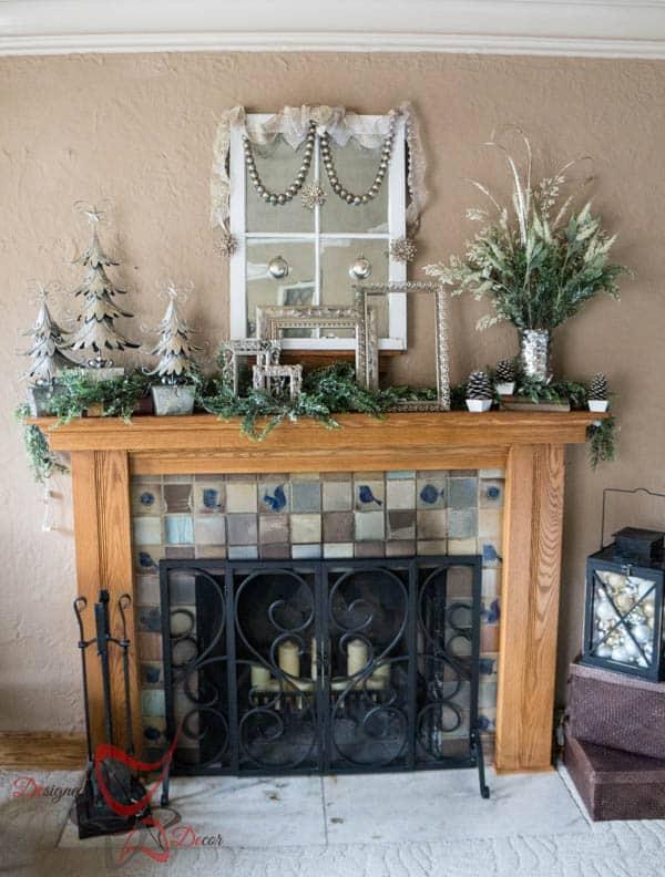 Christmas Mantel 2014- Home for the Holidays Blog Tour