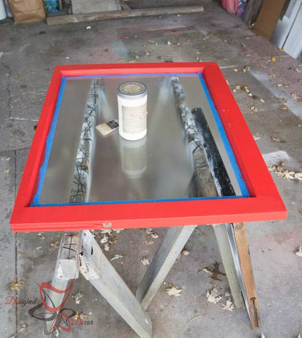 Using Rustoleum's Rippled Effect on the glass