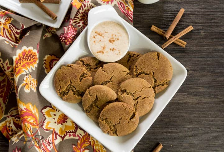 Ginger Snap Cookies served with Eggnog dip