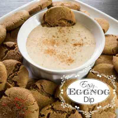 Easy Eggnog Dip!