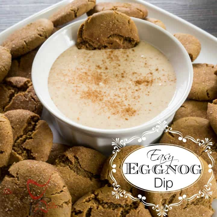 Ginger Snap Cookies with Easy Eggnog Dip-