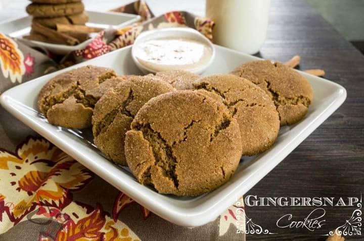 Ginger Snap Cookies with Egg Nog Dip-