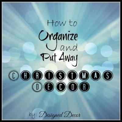 How to Organize Christmas Decor!