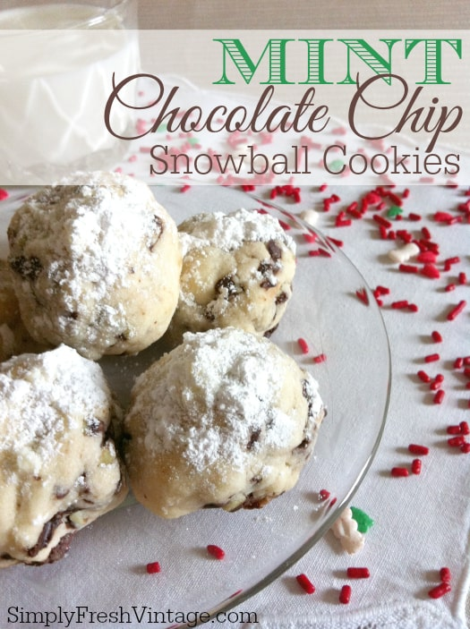Mint-Chocolate-Chip-Snowball-Cookies-Holiday Cookie Round-up