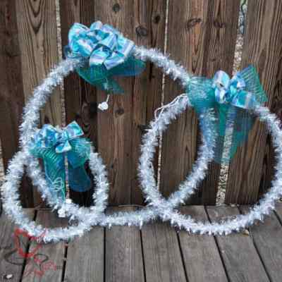 Outdoor Christmas Hanging Light Rings~ Tutorial