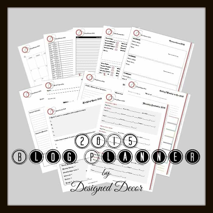 blog planner pages