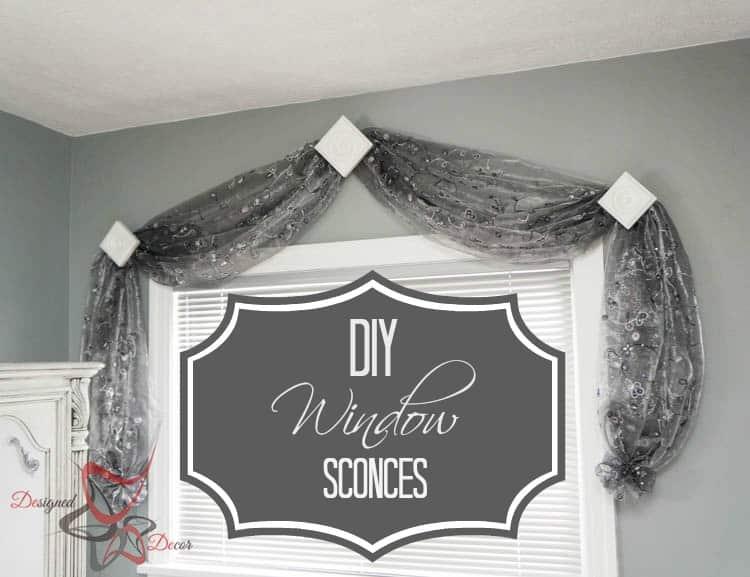 DIY Drapery Window Sconces