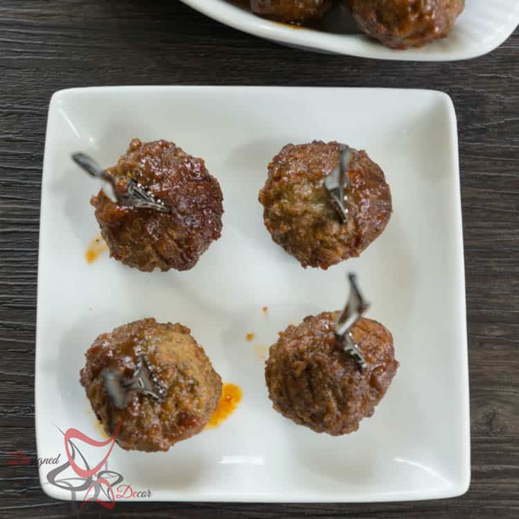 Honey Garlic Crock Pot Meatballs-