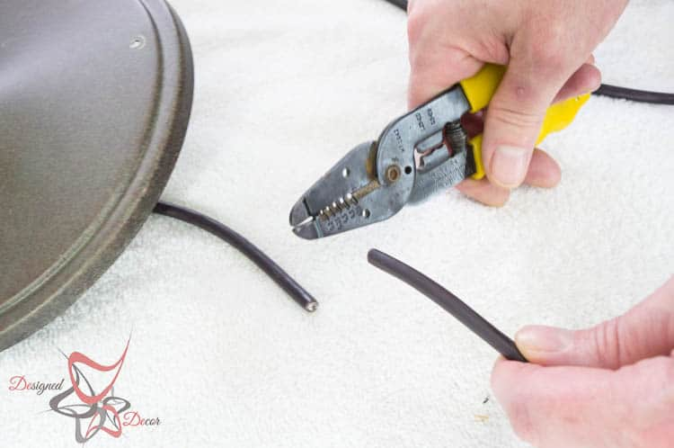 How to hard wire a light fixture- Cutting the wire