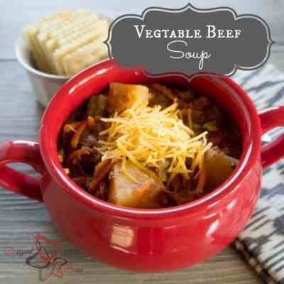 Crockpot Vegetable Beef Soup!