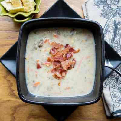 Bacon Cheeseburger Soup!