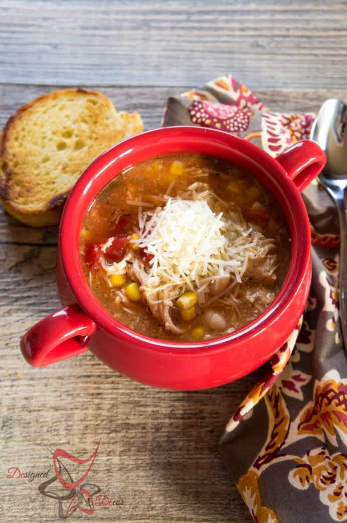 Crockpot Southwest Chicken Soup-