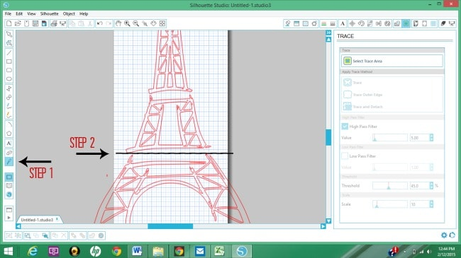 How to use the knife tool in Silhouette Studio