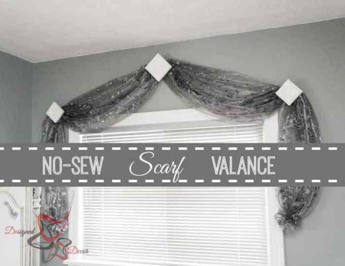 No Sew Scarf Valance-