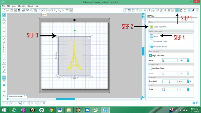Using the Trace Area Tool in Silhouette Studio